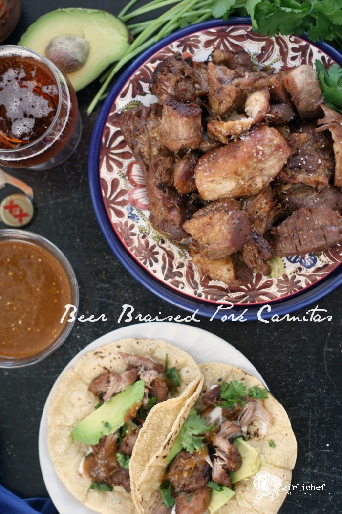 Beer Braised Pork Carnitas | #BeerMonth