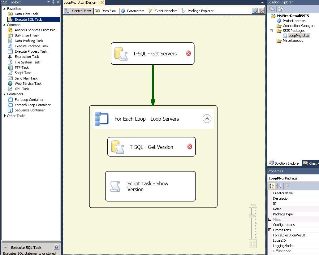 SQL Stuff: Denali SSIS: Loop through a list of servers