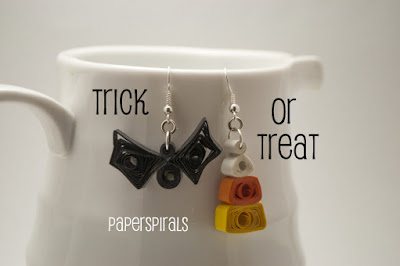 Paper Spirals: Trick Or Treat? Gimme Both!