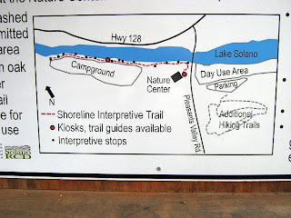 Shoreline Interpretive Trail Map at Lake Solano County Park