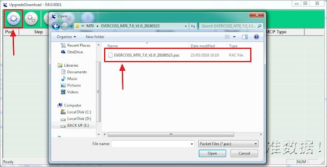 Masukkan firmware kedalam upgrade download tool