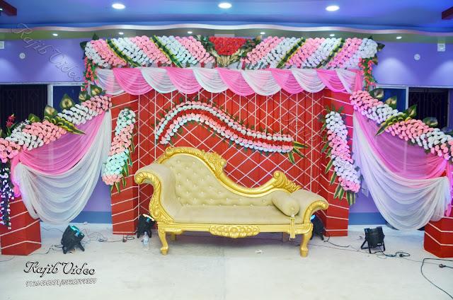 Flower decoration inside the Celebration Banquet Hall