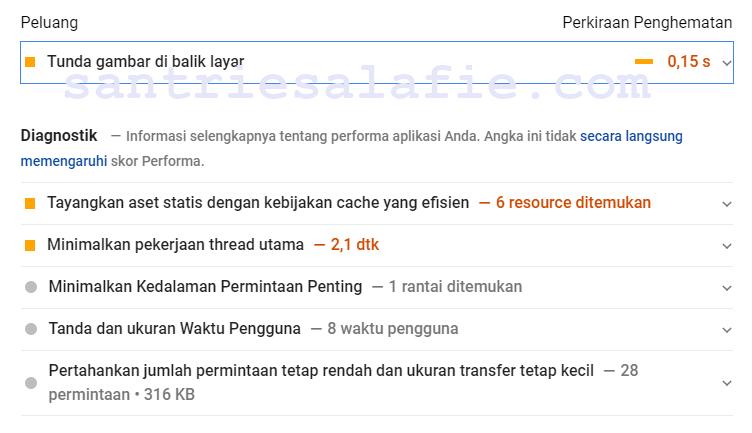 Cara Tunda gambar di Balik Layar pada PageSpeed Insights | santriesalafie.com