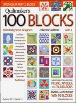 FIND BLUE RIBBON DESIGNS IN QUILTMAKER'S 100 BLOCKS, VOL 11 - May 2015