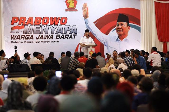 Prabowo: Elite Kita Serakah, Hatinya Beku, Kalau Saya Elite Sadar, Sudah Tobat dan Setia
