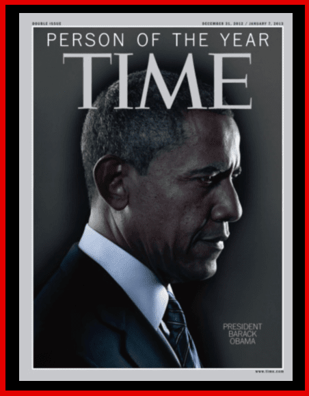 """Time"" Magazine's 2012 person of the year cover featuring President Barack Obama"