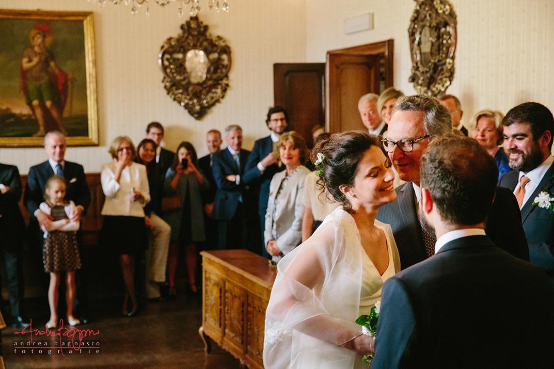 bride entering ceremony Italy wedding