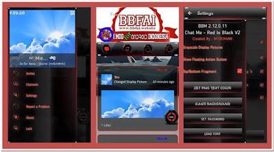 BBM Mod Full Fitur Tema Red and Black V.2.12.0.11 APK