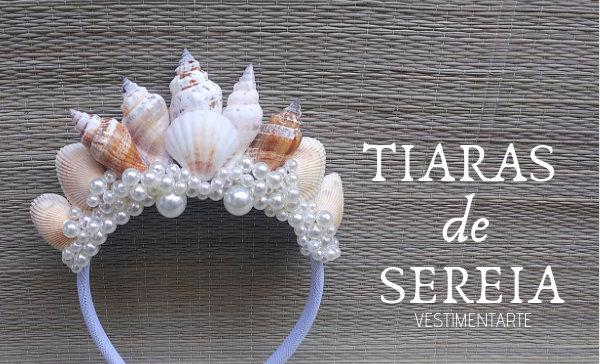 Tiara Sereia Conchas Pérolas
