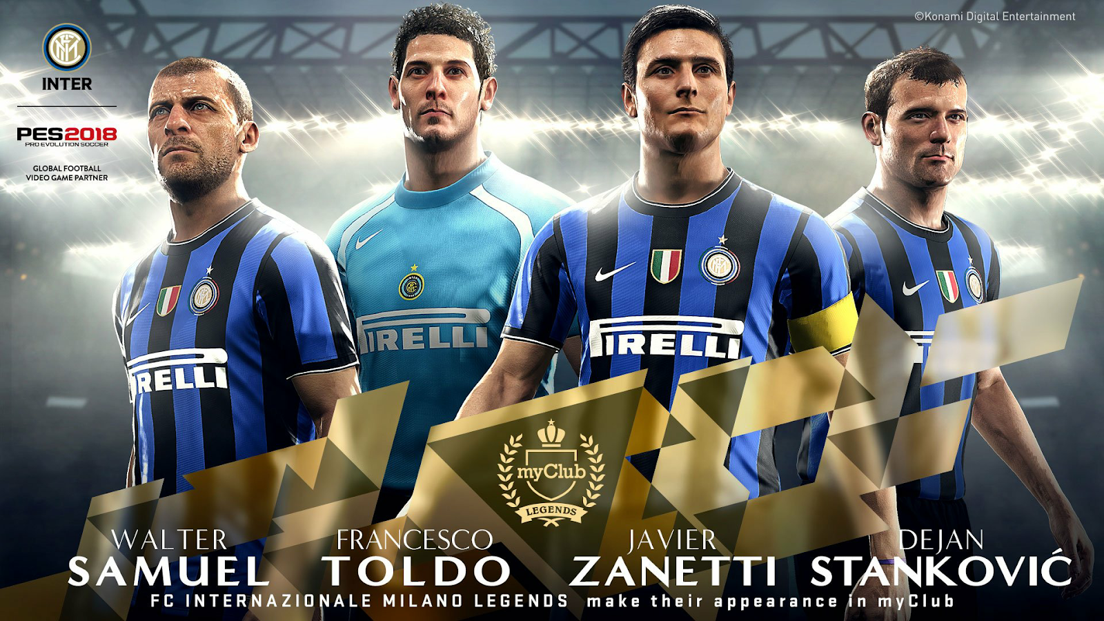 PES 17- PES 18 StartScreen Legends Inter Milan by Last Fiddler