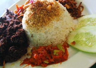 Gambar Nasi uduk empal