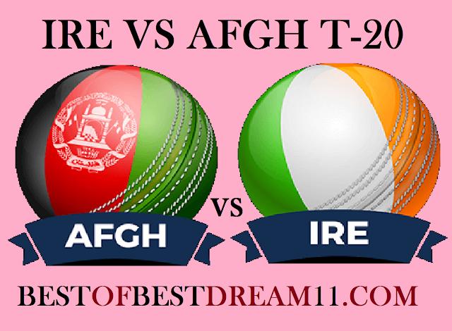 afgh vs ire dream11