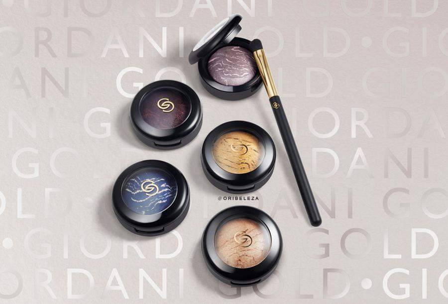Sombra de Olhos Marbleised Giordani Gold da Oriflame