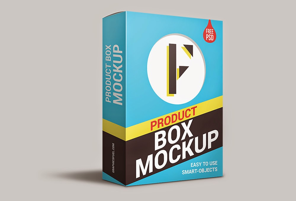 Product Box Package PSD Mockup