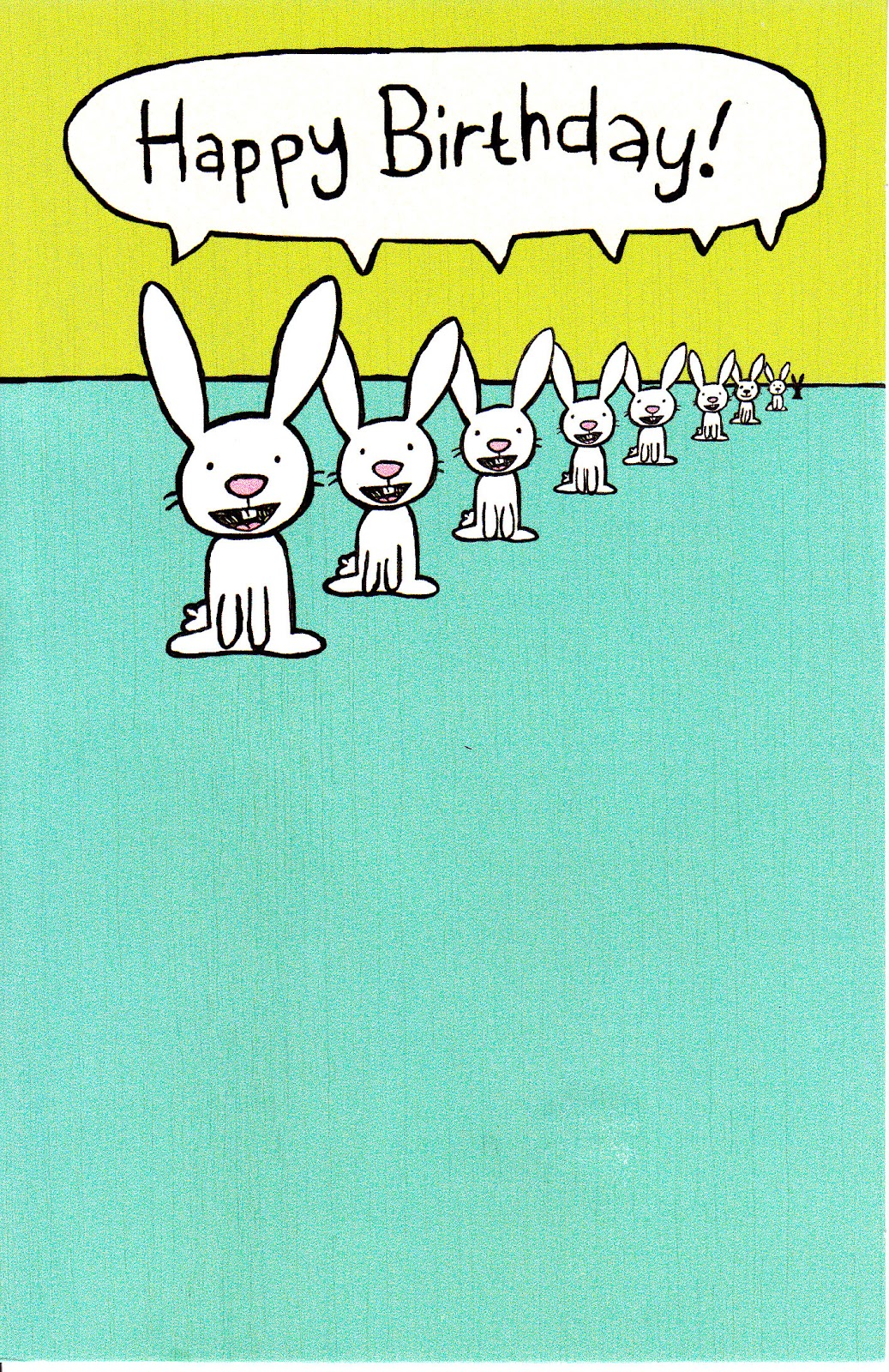 Rabbit ramblings more funny bunny birthday cards inside is a crack about a receding hare line another funny one from american greetings their share a laugh line m4hsunfo