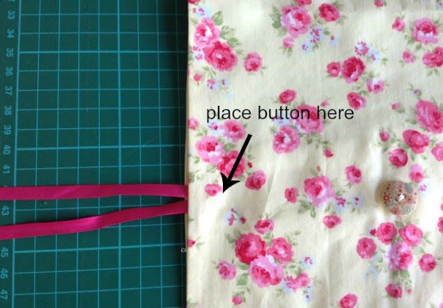 placement of ribbon and diagram on hwere to place button