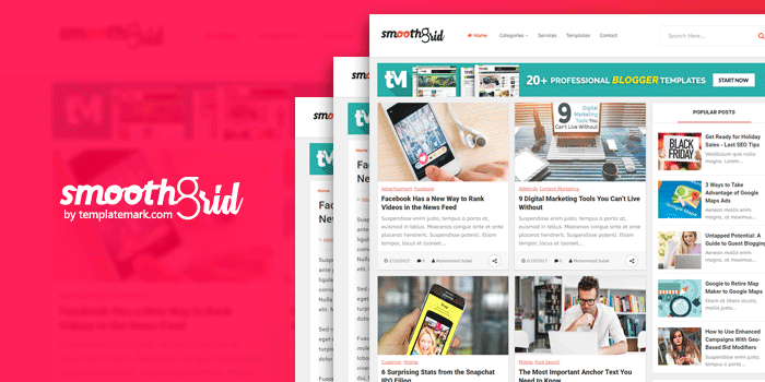 Smooth Grid Professional Blogger Template