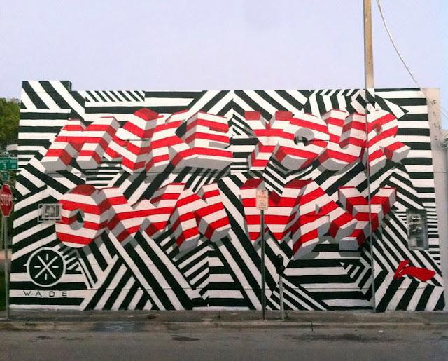 """Make Your Own Way"" New Street Art Piece by British Urban Artist INSA for Art Basel Miami 2013. 1"
