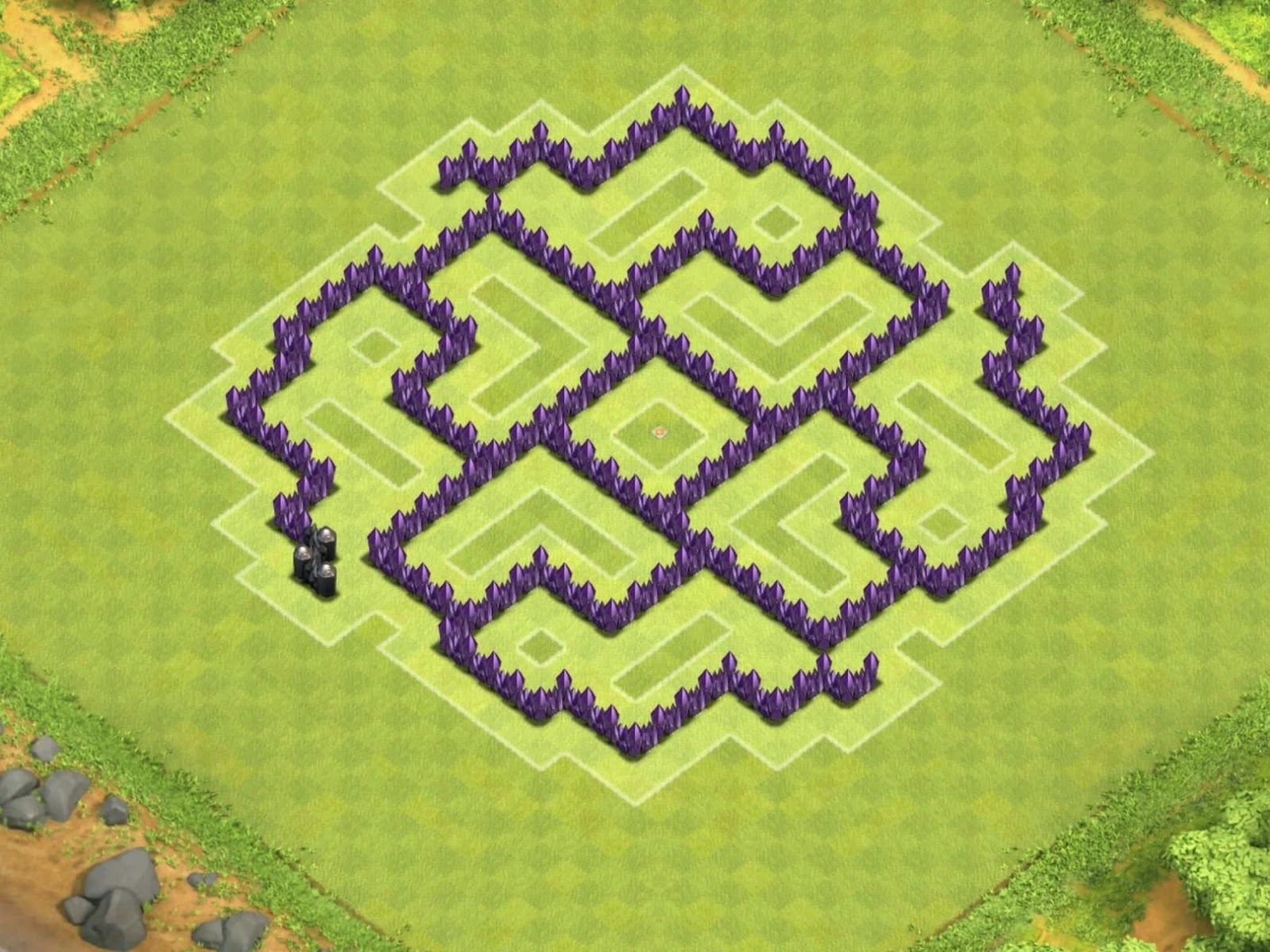clash of clans 7 war base