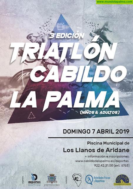 El campeón del Mundo de Acuatlón Adaptado participa en el III Triatlón Cabildo de La Palma