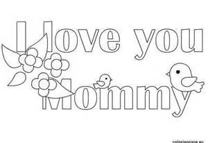 Download I Love you mom coloring sheets images for prin