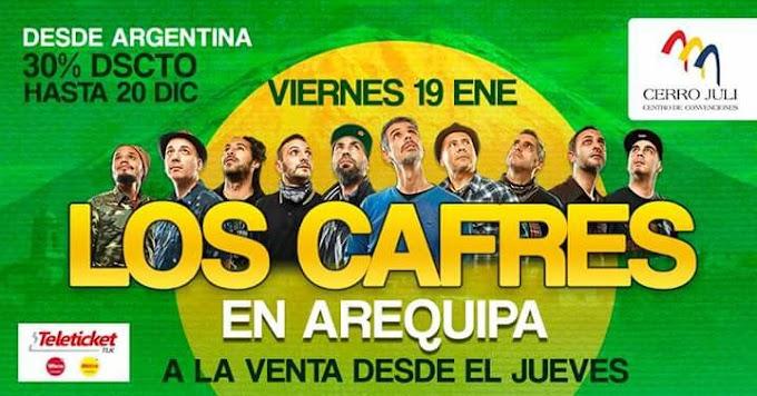 Los Cafres en Arequipa, Precio de entradas - 19 de enero