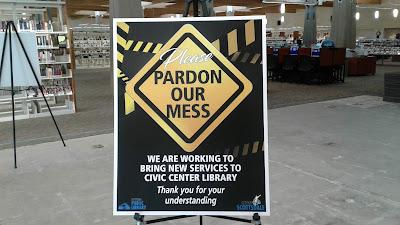 Please Pardon Our Mess sign