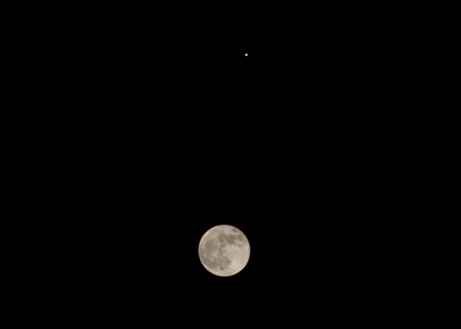 Photoshop composite moon jupiter conjunction