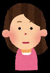 嬉しい表情の女性のイラスト(1段階)