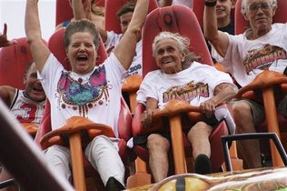 Ohio woman celebrates ninetieth birthday on roller coaster