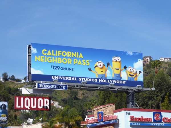 Minions Universal Neighbor Pass billboard