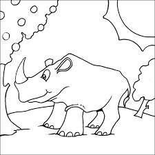 Printable Rhino Coloring Pages