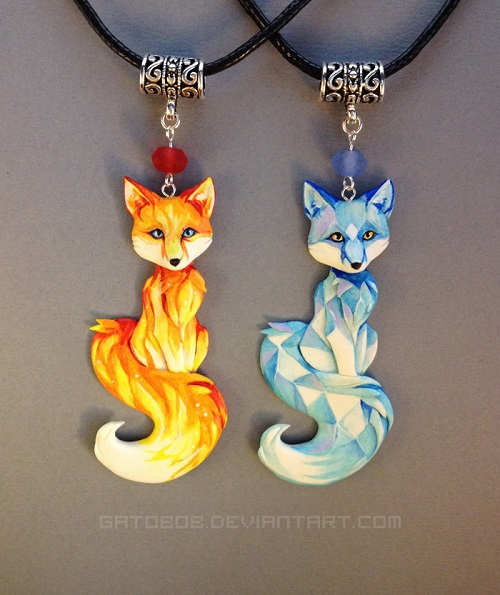 Painted Wearable Polymer Clay And Resin Sculptures By