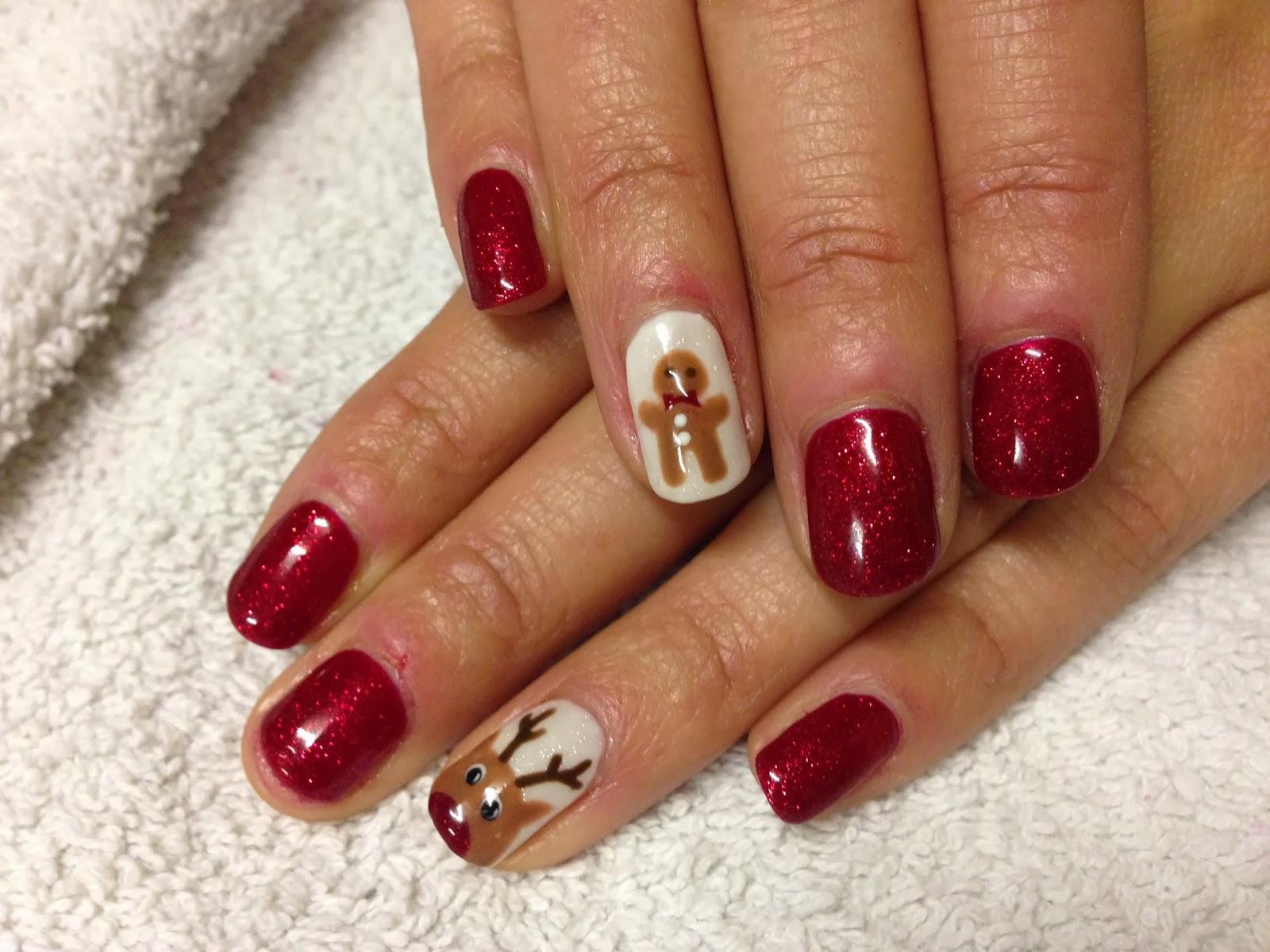 CND Shellac Christmas Nail Art