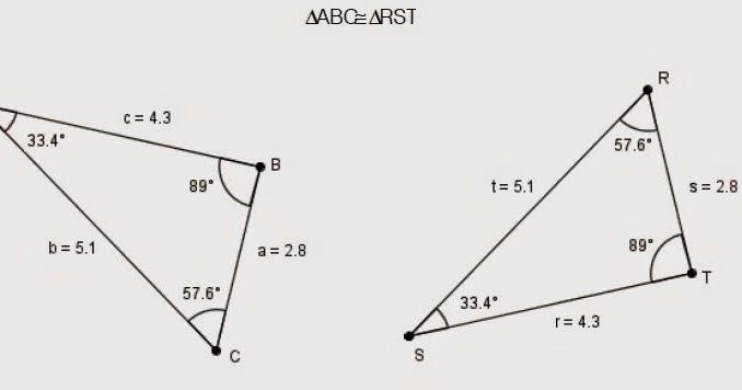 De encuentre triangulos congruentes las parejas Semejanza y
