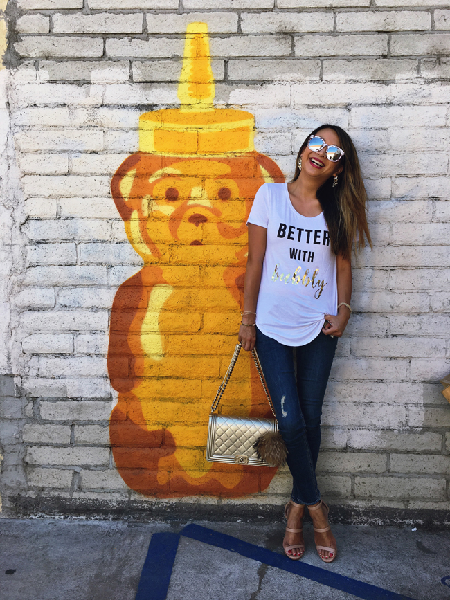 Best Wall Mural Los Angeles, Honey Bear,