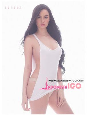 Kim Domingo Bugil  Model Majalah FHM
