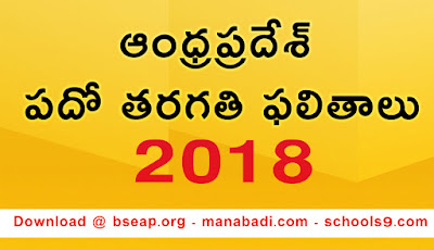 AP SSC Results 2018 - Manabadi 10th Class Grades with Marks, Schools9 | bseap.org