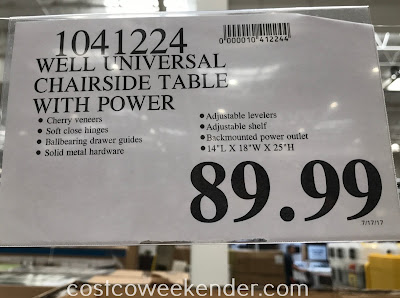 Deal for the Buckingham and Christopher Well Universal Chairside Table at Costco