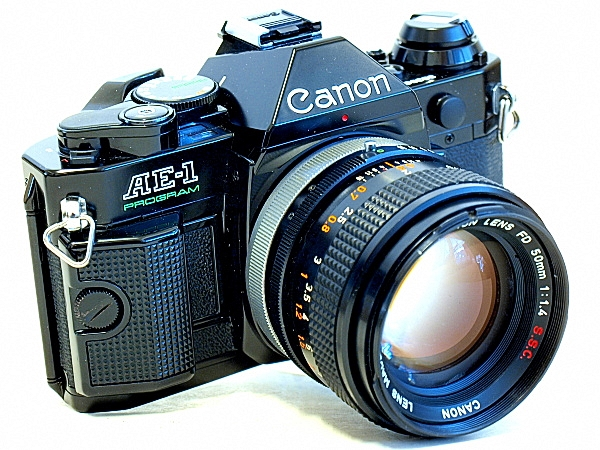 Canon AE-1 Program, Left Front View