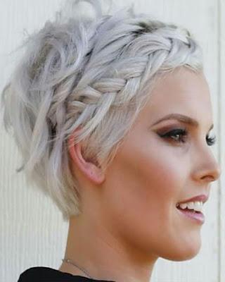 peinados casuales con trenzas recogidos tumblr