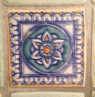 Hand-painted ceramic tiles that reflect the Spanish influence of Santa Barbara.