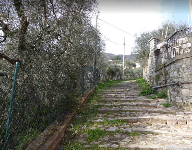 sentiero 522 che sale dalla Spezia verso le colline