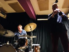 Paal Nilssen-Love (dr) and Ken Vandermark (sax, cl)