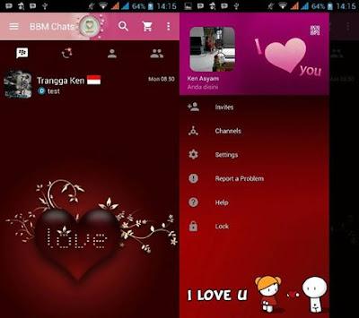 BBM Pink I Love You Base 3.0.0.18 Apk Terbaru Gratis