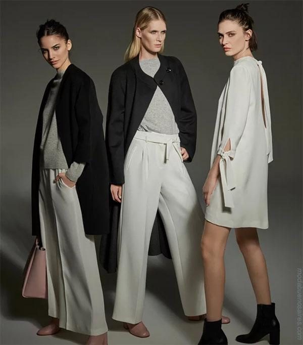 Estilo casual elegante para mujer: Pantalones con lazos en la cintura, vestidos y sweaters otoño invierno 2018.