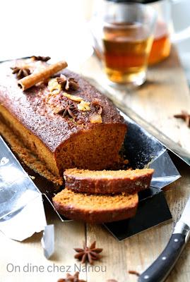 pain d'épices, moelleux, miel , cannelle