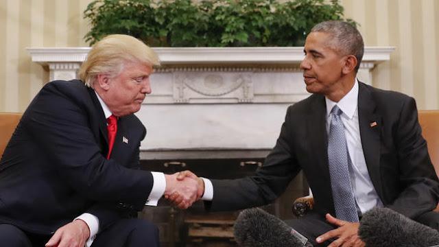 O presidente Barack Obama aconselhou o presidente eleito Donald Trump na quinta-feira para não responder a perguntas quando os repórteres começarem a gritar
