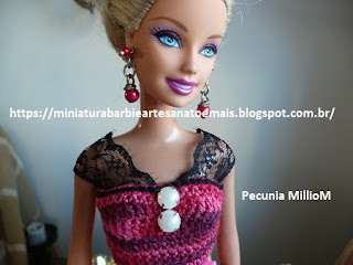 Vestido de Croche e Sapatinhos Com Renda Para Barbie Criados Por Pecunia MillioM 9