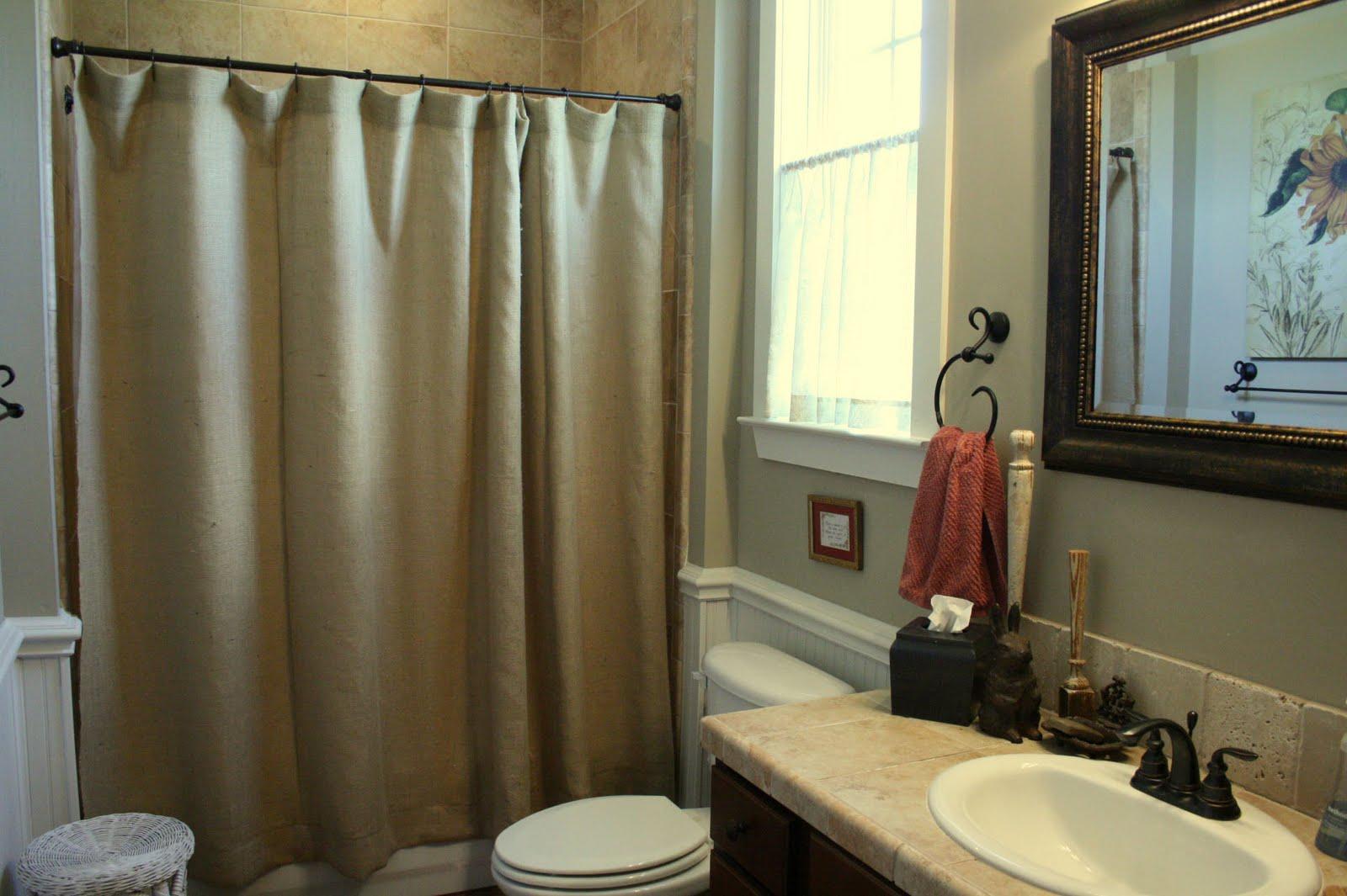 Beautiful Budget Friendly Burlap Ideas, Burlap Bathroom Decor